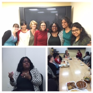 A series of images from our tea with Dr. Jewell-Sherman -- I'm next to her in the red sweater!