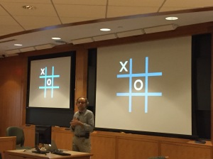 Start the HT-500: Growing Up in a Media World class with special guest Scot Osterweil, AND tic-tac-toe? Why not.