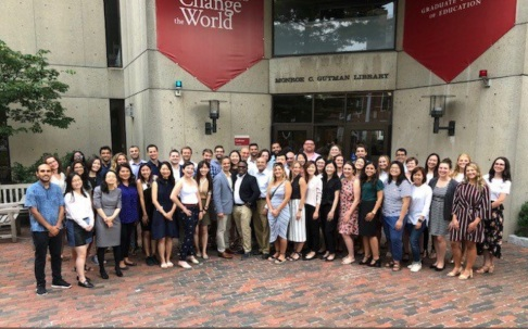 The TIE Cohort outside of Gutman library