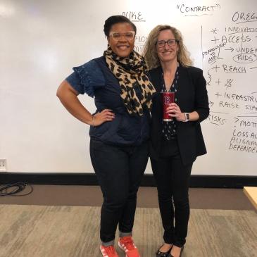 Author Erica Jordan-Thomas and Professor Monica Higgins