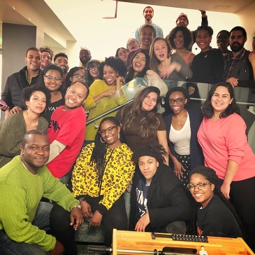 A group of Cronkite residents at the Harvard Graduate School of Education